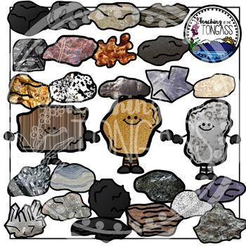 Rocks Clipart and Minerals Clipart Bundle