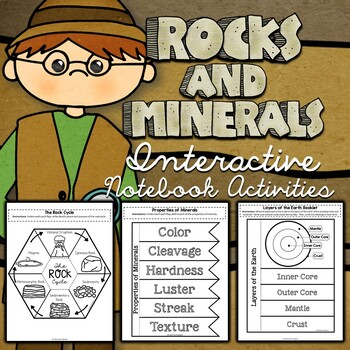 Rocks and Minerals Interactive Notebook Activities