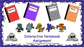 Rocks and Minerals Interactive Notebook Assignment