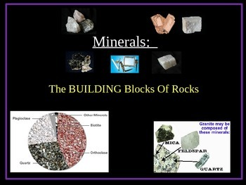 Rocks and Minerals:  MINERAL POWERPOINT
