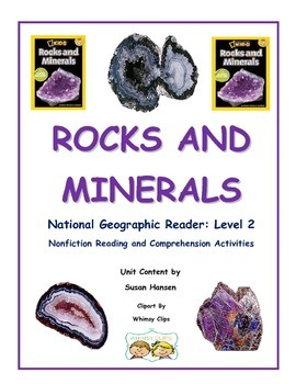 Rocks and Minerals Nonfiction Reading, Writing and Science Unit