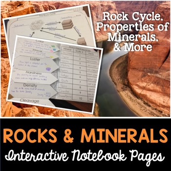 Rocks and Minerals Interactive Notebook Pages