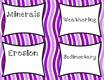 Rocks and Minerals Vocabulary Task Cards (Utah core 4th grade)