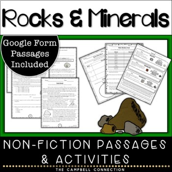 Rocks and Minerals Nonfiction Passages and Activities