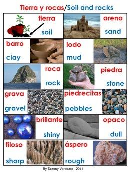 Rocks and Soil Bilingual Poster