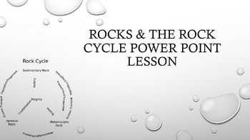 Rocks and the Rock Cycle PPT