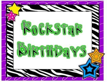 Rockstar Birthday Board