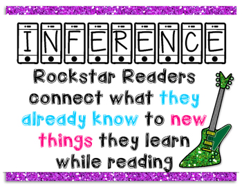 Rockstar Inference Poster (Reading Strategy)