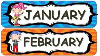 Rockstar Month Headers