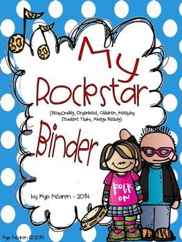 Rockstar Organizational Binder Set and Rockstar of the Wee
