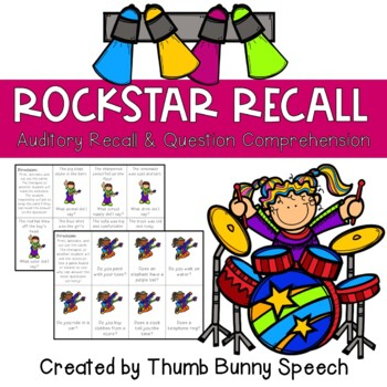 Rockstar Recall - Recalling Details and Question Comprehension