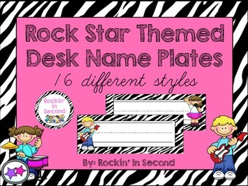Rockstar Theme Desk Plates
