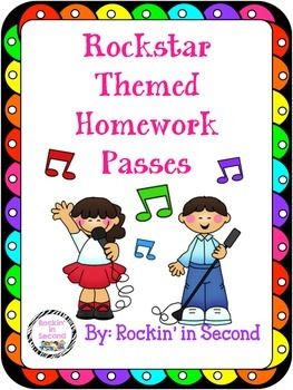 Rockstar Theme Homework Passes