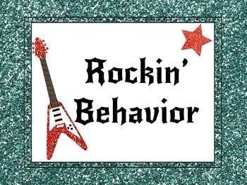 Rockstar Themed Behavior Chart