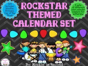 Rockstar Themed Calendar Bundle