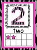 Rockstar Zebra Themed Number Posters 1-20