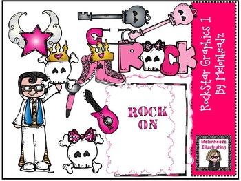 Rockstar graphics 1 bundle by Melonheadz Illustrating