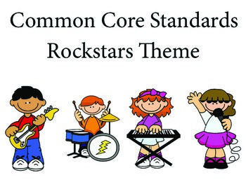 Rockstars 1st grade English Common core standards posters