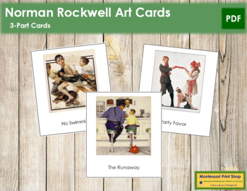 Rockwell (Norman) 3-Part Art Cards