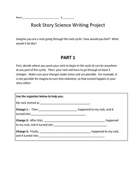 Rock Cycle Story - Science/Creative Writing