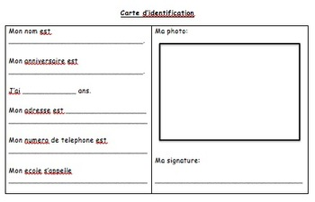 Roles & Responsibilities Unit Lessons - Grade 1 French