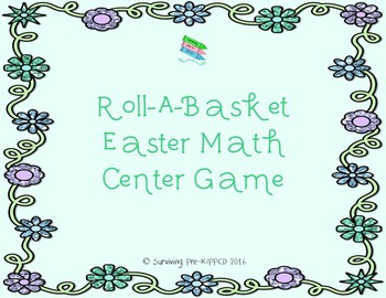 Roll-A-Basket Easter Math Game