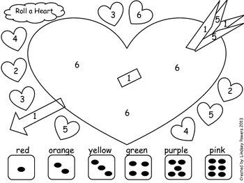Roll A Heart: Math fun for Kindergarten