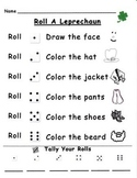 Roll-A-Leprechaun March Math Game