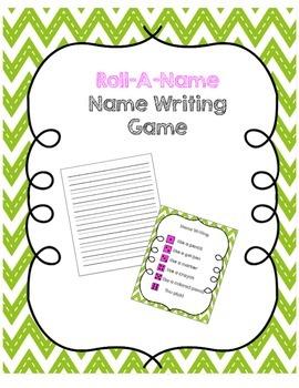 Roll-A-Name Name Writing Game