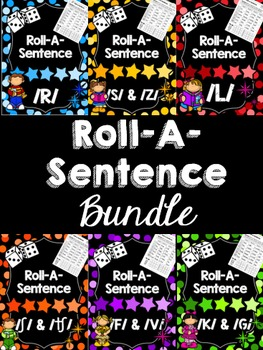 Roll-A-Sentence BUNDLE! Articulation Printables for Senten