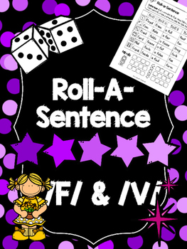 Roll-A-Sentence /f/ & /v/ - Articulation Printables for Se