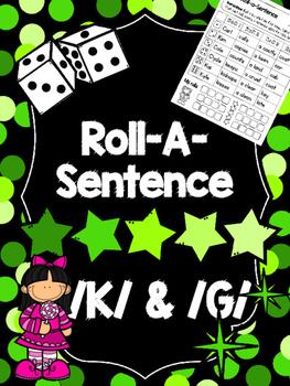 Roll-A-Sentence /k/ & /g/ - Articulation Printables for Se