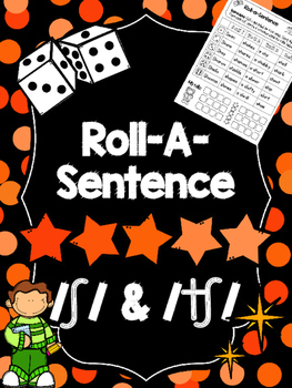 Roll-A-Sentence /sh/ & /ch/ - Articulation Printables for