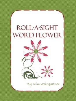 Roll-A-Sight Word Flower