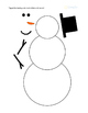 Roll A Snowman Printable with Print & Braille