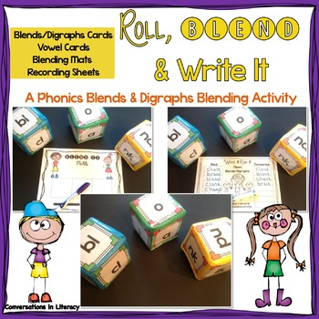 Roll, Blend & Write It:  A Digraphs & Blends Blending Center