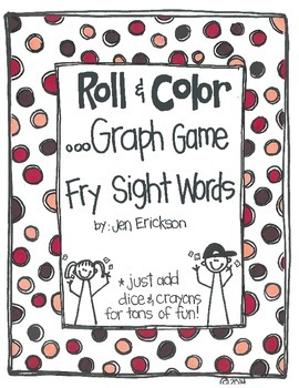 Roll & Color- Graph Games:  Fry Sight Words