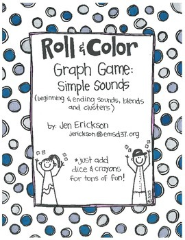 Roll & Color- Graph Games:  Simple Sounds