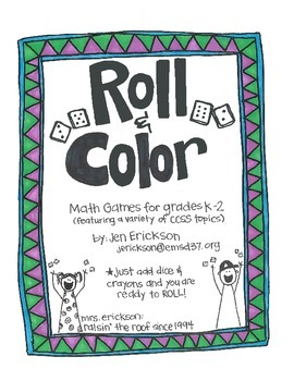 Roll & Color:  Math Games for Grades k-2
