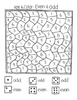 **FREE** Roll & Color:  Numbers and Counting SAMPLE