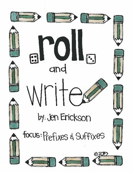 Roll & Color:  Prefixes and Suffixes