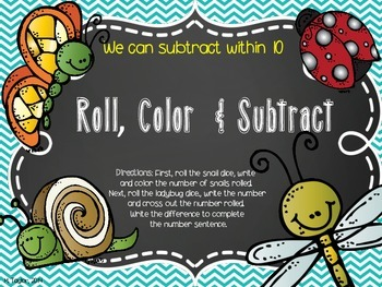 Roll, Color and Subtract Buggy Style