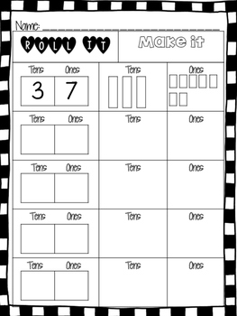 Roll It, Make It (Fun with Place Value)