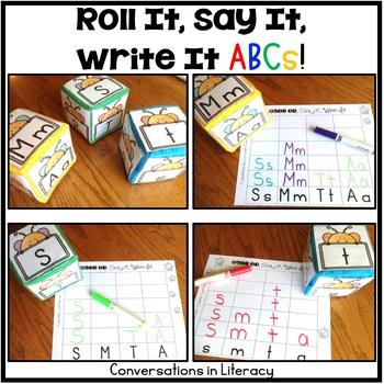 Roll It, Say It, Write It ABCs