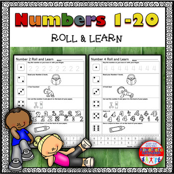 Number Sense Activities - Roll & Learn 1-20