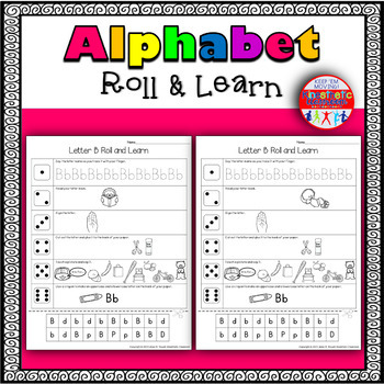 Alphabet Activities - Roll & Learn Letter Sounds