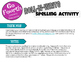 Roll-N-Write Spelling Activity