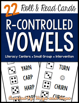 Roll & Read Cards - R Controlled Vowels