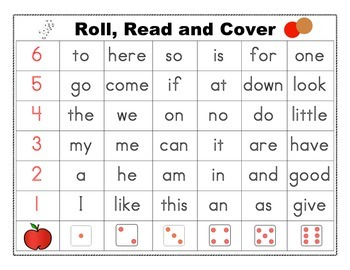 Roll Read Cover Word Wall Words Harcourt Kindergarten High
