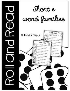 Roll & Read {Short E Word Families}
